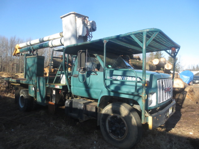 Used Bucket Trucks For Sale >> 1991 Gmc Top Kick Bucket Truck Used For Sale