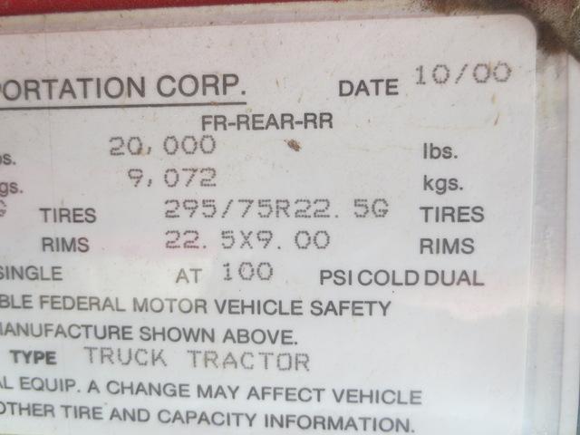 2001 International 4900 Single Axle Dump Truck