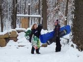 Julia and Jordan Snow Boarding