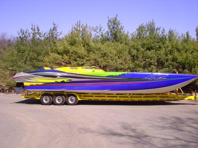 2003 Off Shore Race Boat Super Cat MTI 39 foot Catamaran