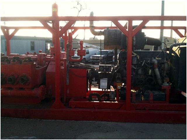 EWECO E-447 Triplex Continuous Duty Piston Well Service Pump