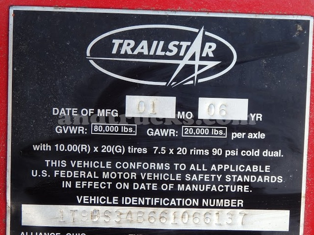 2006 Trailstar 50-Yard Steel Dump Trailer for sale