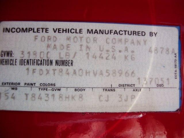 1988 F 800 Dump Body Ford Diesel Single Axle