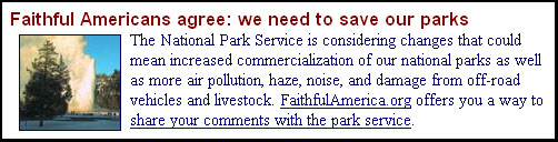 National Council of Churches home page, Feb 16, 2006