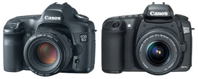 Canon 5D and Canon 20D cameras