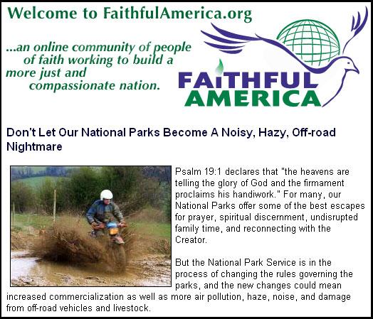 Faithful Amerca home page Feb 16, 2006