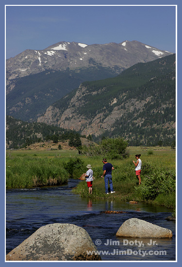 Fishing, Big Thompson River, Rocky Mountain National Park