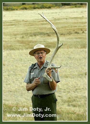 Park Ranger giving a talk, Rocky Mountain National Park, Colorado
