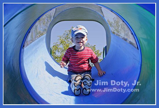 Drew on the Dragon Slide
