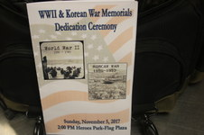 WWII & Korean War Memorial Dedication