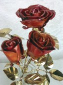 Copper Roses with Brass Leaves