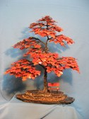 Welded Steel Tree with Copper Leaves