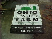 Century Farm sign build