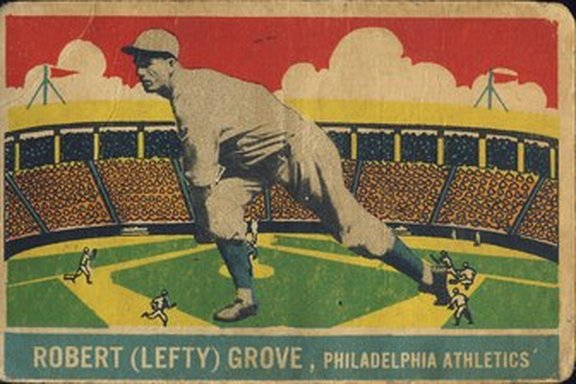 1933 Delong card #23 of Lefty Grove