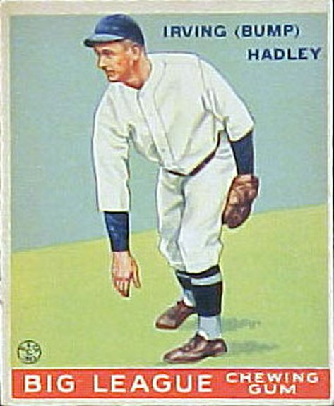1933 Goudey card #140 of Irving (Bump) Hadley