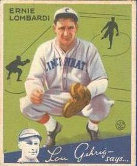 1934 Goudey card #35 of Ernie Lombardi