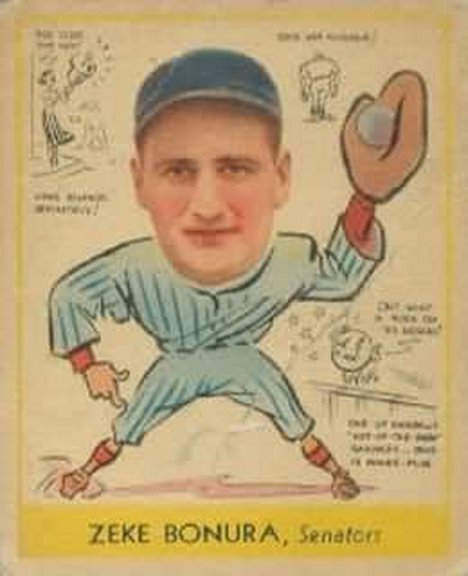 1938 Goudey card #276 of Zeke Bonura