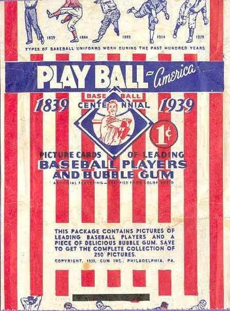 1939 Play Ball Wrapper