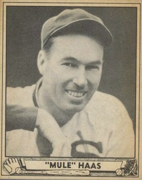 1940 Play Ball card #184 of George Haas