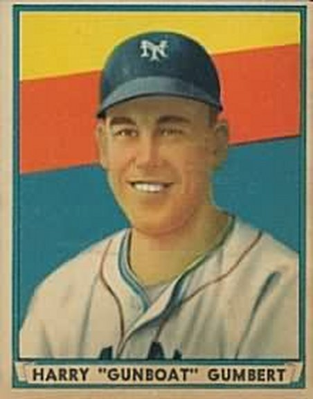 1941 Play Ball card #26 of Harry 'Gunboat' Gumbert