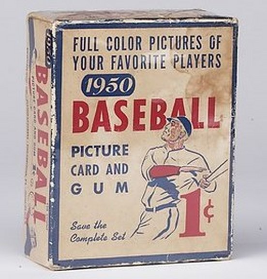 1950 Bowman Display Box