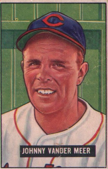1951 Bowman card #223 of Johnny Vander Meer