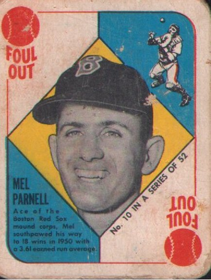 1951 Topps Red Back #10 of Mel Parnell
