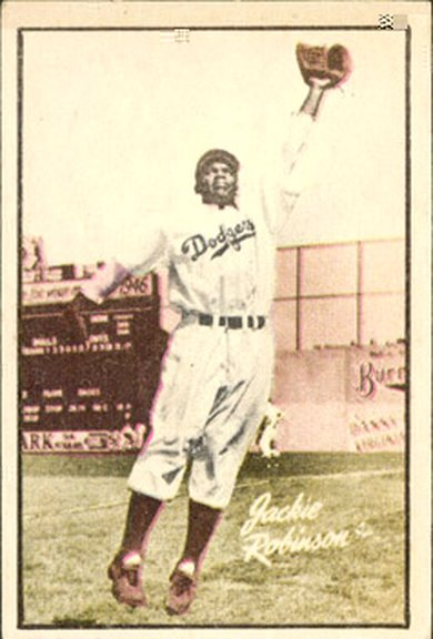 1952 Berk Ross card of Jackie Robinson