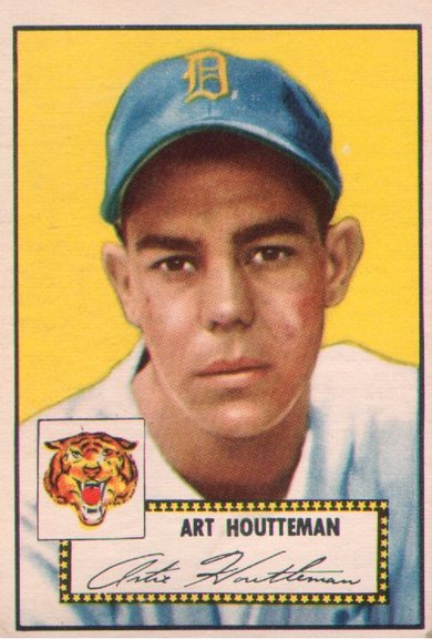 1952 Topps card #238 of Art Houtteman