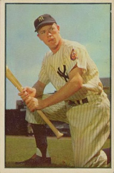 1953 Bowman color card #63 of Gil McDougald