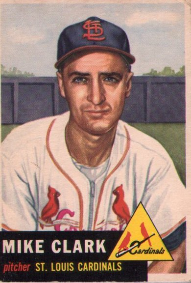 1953 Topps card #193 of Mike Clark