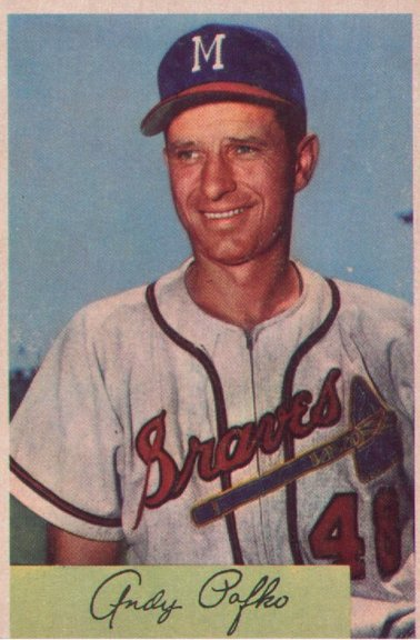 1954 Bowman card #112 of Andy Pafko