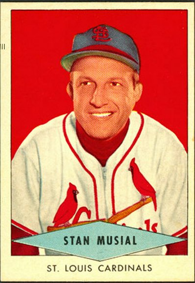 1954 Red Heart card of Stan Musial