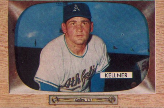 1955 Bowman card #53 of Alex Kellner