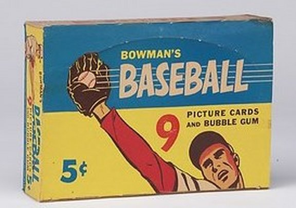 1955 Bowman Display Box