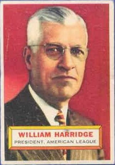 1956 Topps #1 of William Harridge