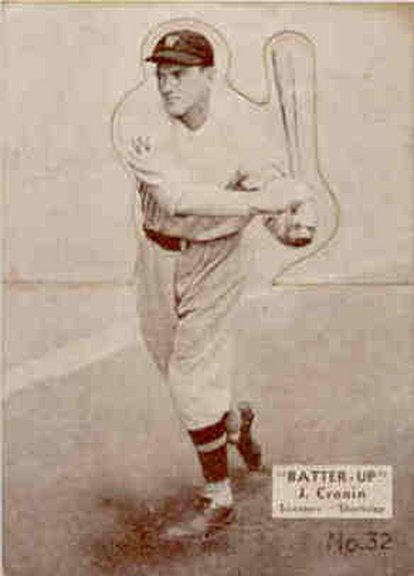 1934-36 Batter Up card #32 of Joe Cronin