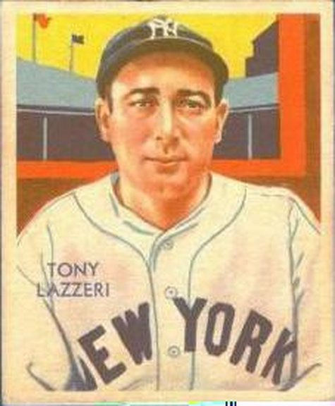 1934-36 Diamond Stars card #74 of Tony Lazzeri