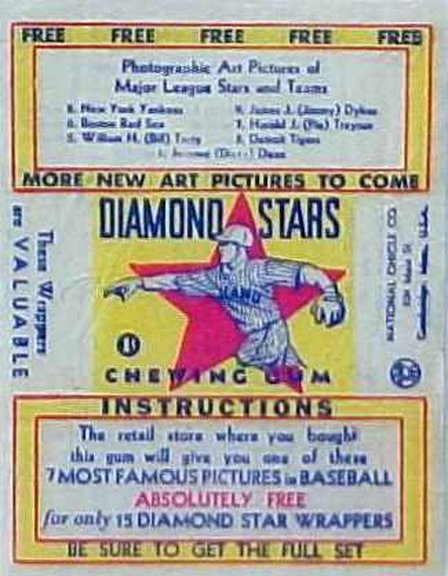 1934-36 Diamond Stars Wrapper