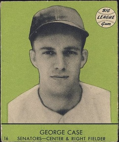 1941 Goudey card #16 of George Case (green)