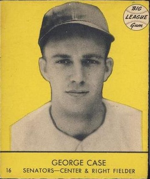 1941 Goudey card #16 of George Case (Yellow)