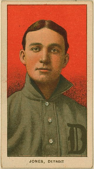 1909-11 T206 card of Davy Jones