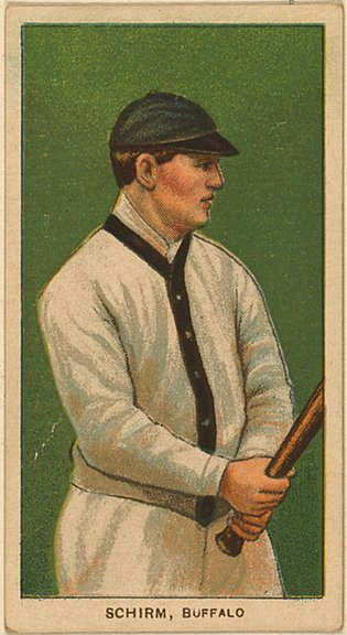 1909-11 T206 card of George Schirm (minor leaguer)