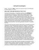 Cosmology and Metaphysics