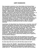 Lent Disgraced (Published)
