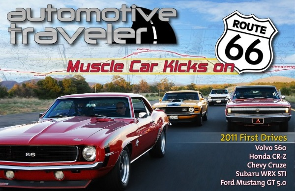 Muscle Cars On Route Historic Route