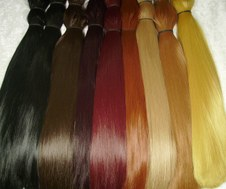 Synthetic doll hair