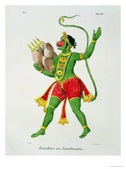Hanuman Art from Facebook