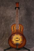 National Triolian Wood Body Walnut Burst