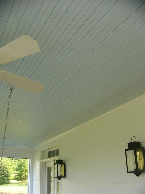 Need help with porch ceiling color please pics for Balcony ceiling